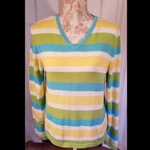 🏝Lilly Pulitzer 🏝V-Neck Stripe Sweater